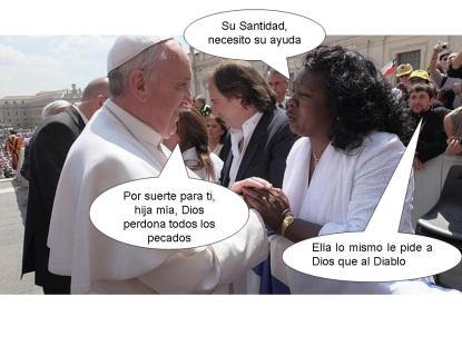 Berta Soler y el Papa