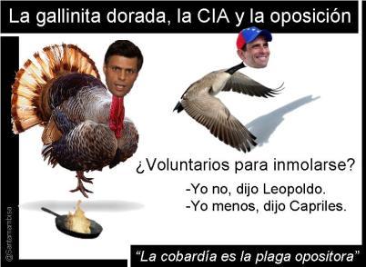 #Venezuela: La gallinita dorada, la #CIA y la oposición (#HenriqueCapriles, #LeopoldoLópez)