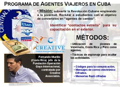 programa agentes viajeros de la usaid en Cuba