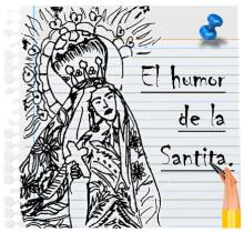 LA sANTA EN EL HUMOR