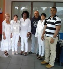 Las Damas de Blanco a su regreso en La Habana el 23 de diciembre.