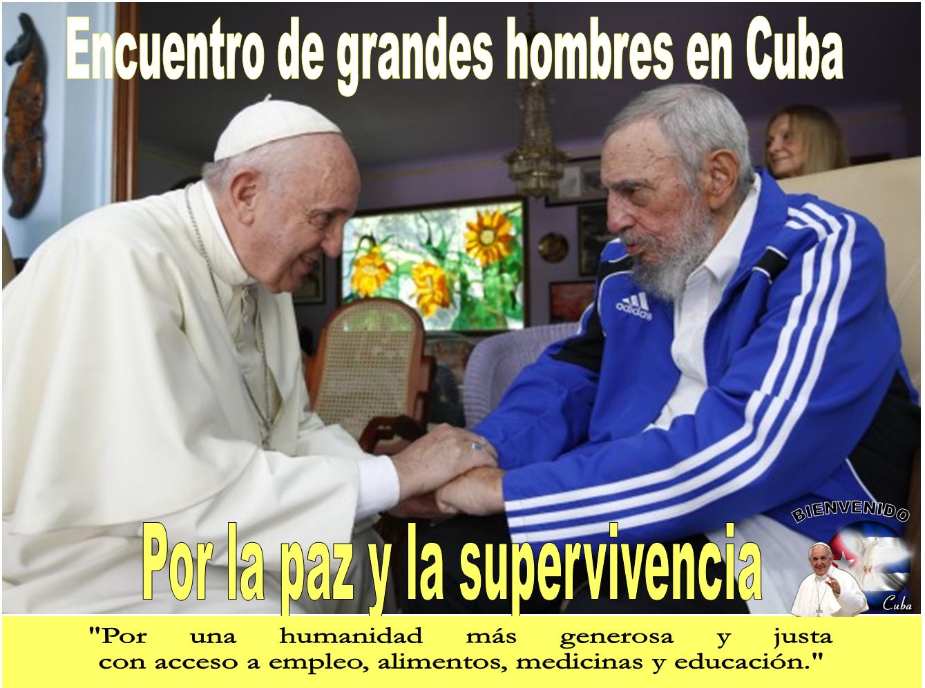 Resultado de imagen para papa francisco fidel castro