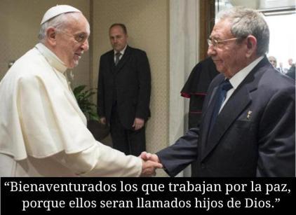 Raul Castro durante su visita al Vaticano.