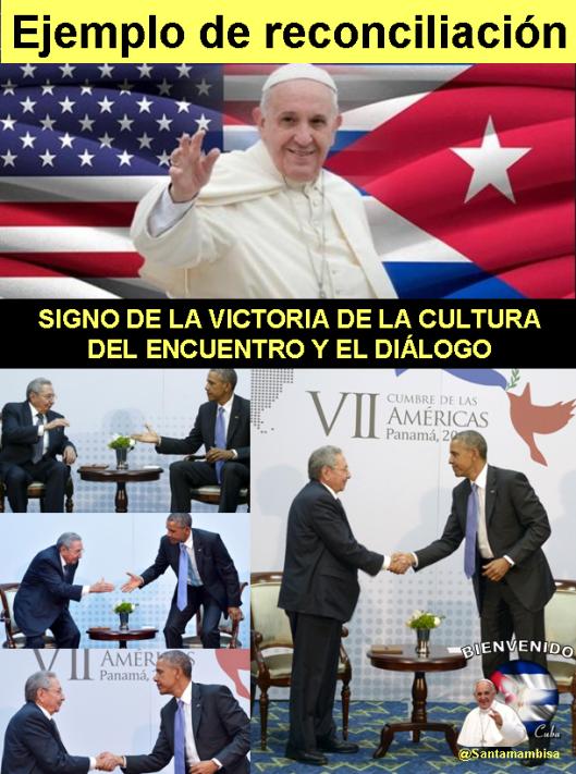 El papa Francisco instó a Cuba y Estados Unidos a continuar el proceso de normalización de relaciones
