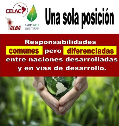 ALBA Y CELAC LLEGAN FORTALECIDOS A  COP21