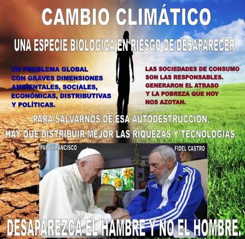 FIDEL EL PAPA Y CLIMA