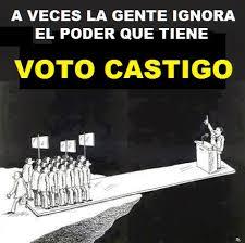 Resultado de imagen para voto de castigo? (I)