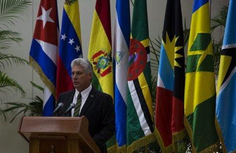 Miguel Díaz-Canel, Cumbre del ALBA, Cuba